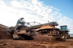Maskineriprocess i kolgruva Royaltyfri Bild