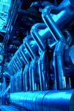 maskinerirør ångar rörturbinen Arkivbilder