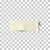 Masking or adhesive tape piece. Vector torn masking and adhesive tape part. Royalty Free Stock Image