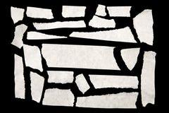Masking tape. Pieces of masking tape on black Stock Images