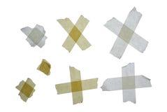Masking tape. Duct tape isolated on white Royalty Free Stock Photo