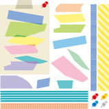 Masking tape. Set of colorful masking tape Stock Photo