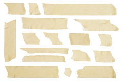 Masking Tape. Strips of masking tape on white background Royalty Free Stock Photo