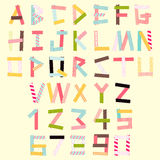 Masking tape alphabet Stock Photo