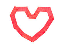 Masking tape attach as heart Stock Images