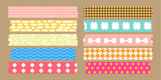 Masking tape collection. Set pack Stock Photos