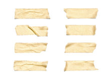 Masking Tape. Collection of various adhesive tape pieces on white background. Each one is shot separately, including Clipping Path Royalty Free Stock Images