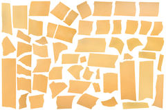 Masking tape, great for collage. Torn Masking Tape, Assorted Masking Tape Pieces, all for your uses Stock Images