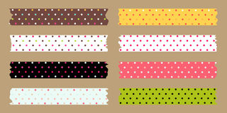 Masking tape set Royalty Free Stock Photo