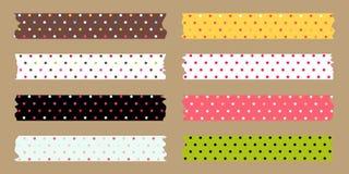 Masking tape set. Colourful polka dot Royalty Free Stock Photo