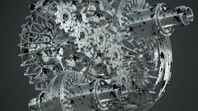 Maskinkugghjul som roterar royaltyfri illustrationer