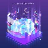Maskinlärande teknologi vektor illustrationer