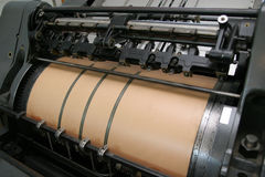 maskinprinting Arkivbild