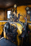 Maskinrum av ångalokomotivet Royaltyfri Fotografi