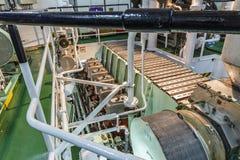 Maskinrum av skeppet Arkivbilder