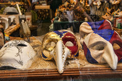 Maskmakers-Shop in Venedig Italien Stockbilder