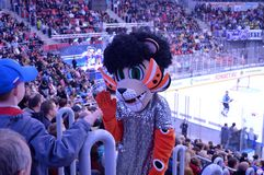 Maskot av hockeylaget Fotografering för Bildbyråer