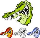 maskot för alligatorgatorlogo stock illustrationer