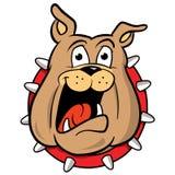 maskot för bulldoggtecknad filmillustration vektor illustrationer