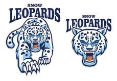 Maskot för snöleopard stock illustrationer
