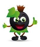 Maskot för svart vinbär Royaltyfri Fotografi