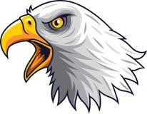 Maskot för tecknad filmEagle huvud stock illustrationer