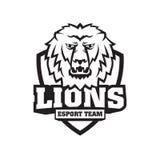 Maskot tysta ned av ett lejon Royaltyfria Foton