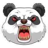 Maskothuvud av en panda vektor illustrationer
