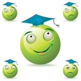 maskotka zielony uczeń royalty ilustracja