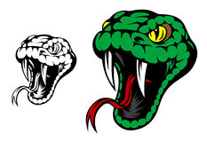 Maskottchen der grünen Schlange Lizenzfreie Stockbilder