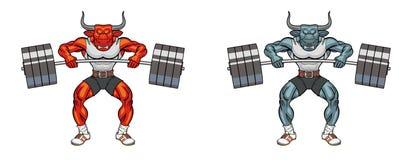 Maskottchengewichtheben Lizenzfreie Stockfotos