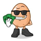 Maskottchenvektor-Karikaturillustration des Eies reiche lizenzfreie abbildung