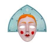 Maskowa Śnieżna dziewczyna retro Obraz Royalty Free