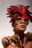 maskowa Amerykanin afrykańskiego pochodzenia kobieta Zdjęcia Stock