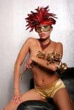 maskowa Amerykanin afrykańskiego pochodzenia kobieta Zdjęcie Stock