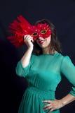 Maskowa dziewczyna Zdjęcia Royalty Free