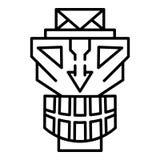 Maskowa idol ikona, konturu styl royalty ilustracja