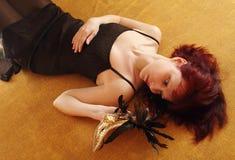 maskowa kobieta Fotografia Royalty Free