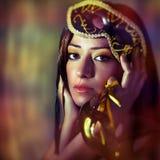 maskowa nosi venetian kobieta Zdjęcia Stock