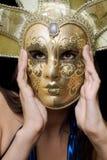 maskowy dziewczyna portret Fotografia Royalty Free