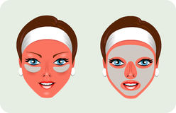 maskowy facial odmładzanie Obrazy Stock
