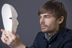 maskowy mężczyzna teatr Fotografia Royalty Free
