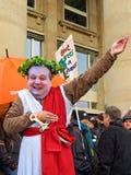 maskowy mappus 21 polityk Stuttgart Zdjęcia Stock