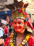 Maskowy taniec, Kathmandu, Nepal Obraz Royalty Free
