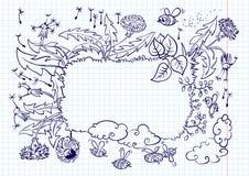maskrosram stock illustrationer