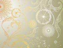 maskrosvektor royaltyfri illustrationer