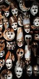 Masks. The carnival masks in Vinice Royalty Free Stock Photography