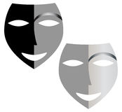 Masks. Illustration work of two masks Stock Photography