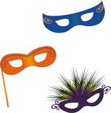 Masks. 3 x Masquerade, Carnival maks Stock Photo