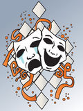 Masks. Representing comedy-tragedy theater Stock Images
